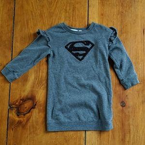 Super Girl Sweatshirt Dress 4T